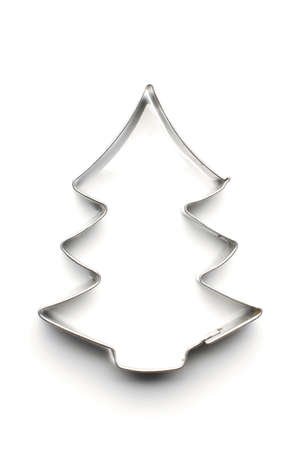 Christmas tree dough cut shape Stock Photo