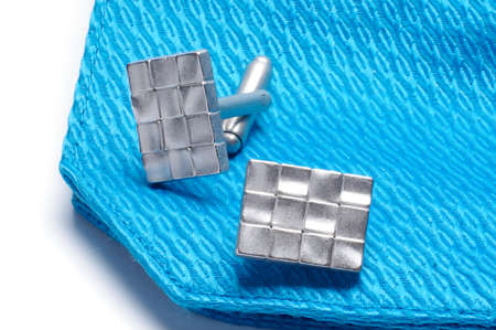 cuff links: Cufflinks on the sleeve