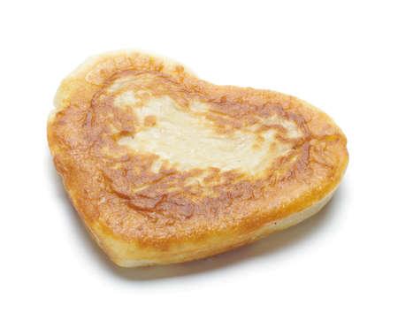 Heart shape flapjack isolated
