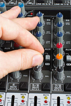 Adjusting audio mixer photo
