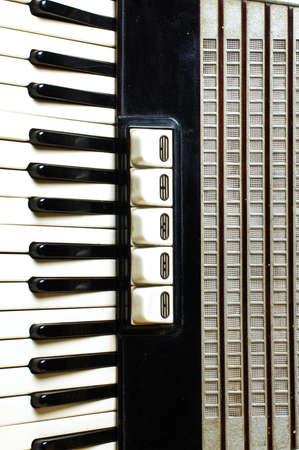 bandoneon: Accordion keyboard closeup Stock Photo