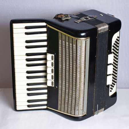 Black vintage accordion photo