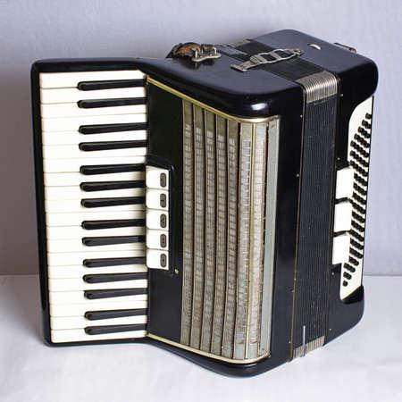 bandoneon: Black vintage accordion