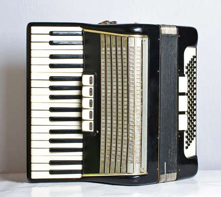 Musical instrument accordion photo