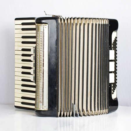 bandoneon: Black accordion opened Stock Photo
