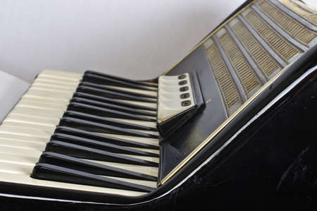 Accordion keyboard and registers photo