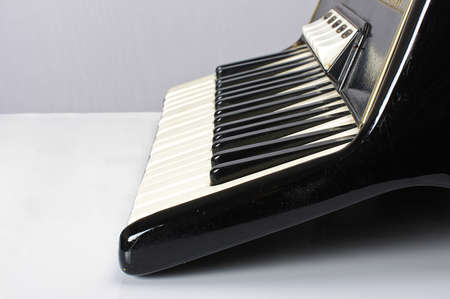 Accordion keyboard low angle Stock Photo