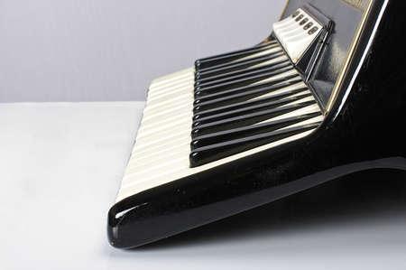 bandoneon: Accordion keyboard low angle Stock Photo