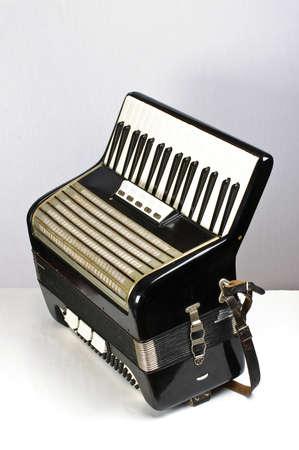 bandoneon: Black accordion side view