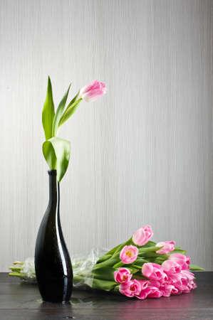 matherday: Pink tulips still life