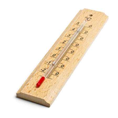 Alcohol thermometer isolated
