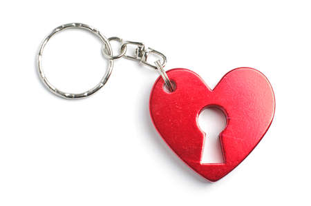 Heart shape charm isolated