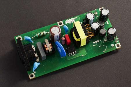 electrolytic: Fuente de alimentaci�n PCB placa de circuito impreso Foto de archivo