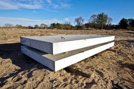 begining: Concrete blocks begining of constructions idea