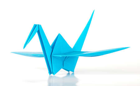 Aqua Japan origami crane photo
