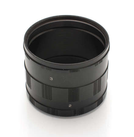 macrophotography: Extension rings for macrophotography isolated