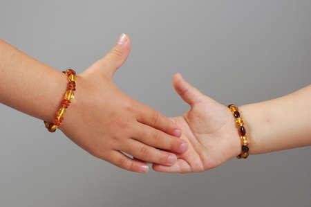 Gyerekek kezet testrész koncepció