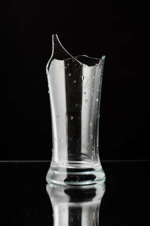 smithereens: Crashed glass still life