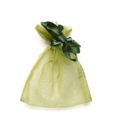 organza: Original jewelry packing bag isolated
