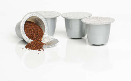 Packed plastic coffee containers