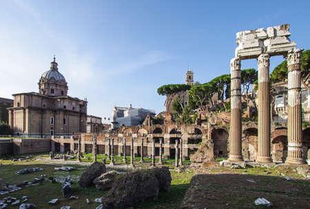 severus: Foro Romano Roman Forum ruins in the center of Rome Italy