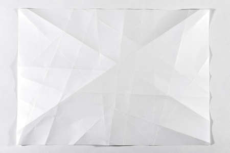 Unfolded white blank sheet of paper