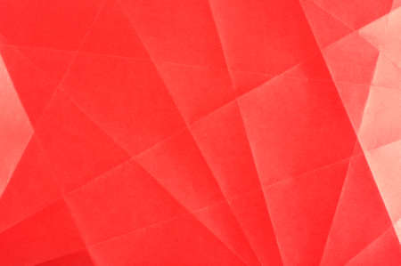 folded paper: Red folded paper surface abstract