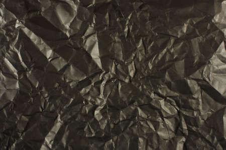 wrinkled paper: Zwarte gerimpelde papier textuur abstracte Stockfoto