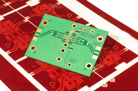 layer masks: PCB of printed gerber mask for manufacturing