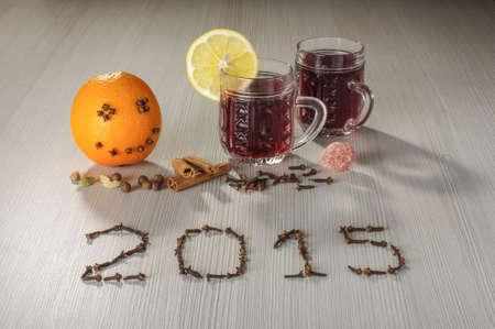 vin chaud: Vin chaud et heureuse nouvelle ann�e salutations 2015
