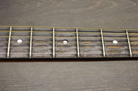 fretboard: Acoustic guitar fretboard isolated