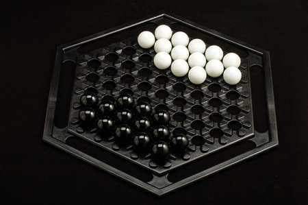 heuristics: Abalone game starting position Stock Photo