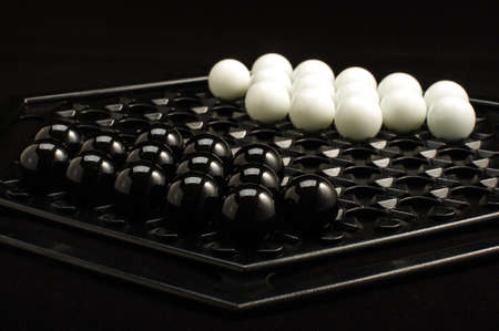 heuristics: Starting position of Abalone table game isolated