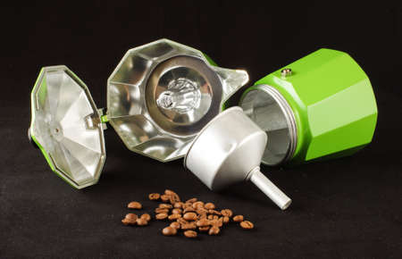 Coffee preparation equipment for professional barista photo