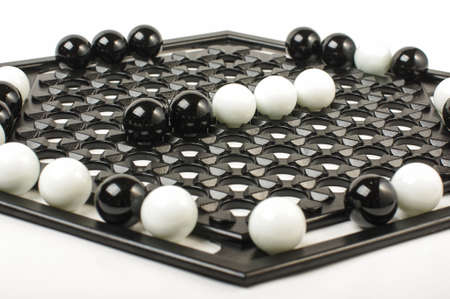 heuristics: Racism concept black vs white on Abalone game board