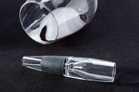 aeration: Acrylic wine aerator isolated close up