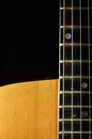 Vertical guitar detail close up isolated
