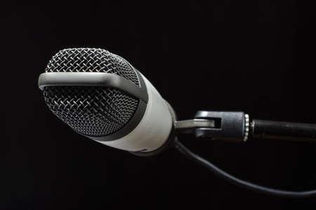 cardioid: Concepto Noticias micr�fono de condensador en la estaci�n de radio