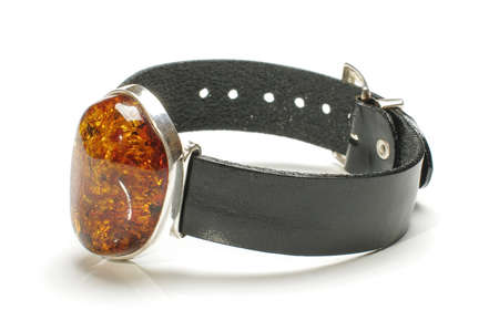 armlet: Beautiful fashion amber armlet isolated