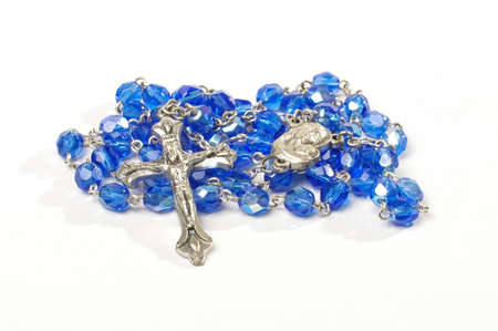 Dominican rosary isolated on the white background Standard-Bild
