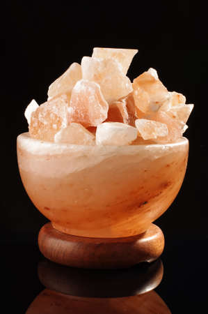 salt lamp: Himalayan salt lamp cosiness and comfort concept Stock Photo
