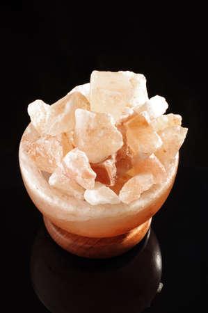 salt lamp: Himalayan salt lamp interior decoration isolated
