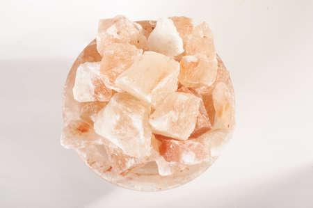therapeutics: Himalayan salt lamp crystals top view