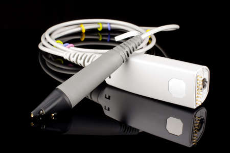 oscilloscope: Oscilloscope probe electronics research and development equipment isolated