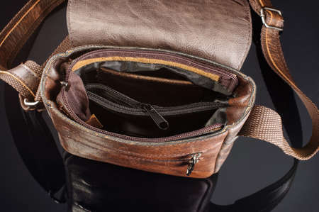 Men shoulder bag inside view