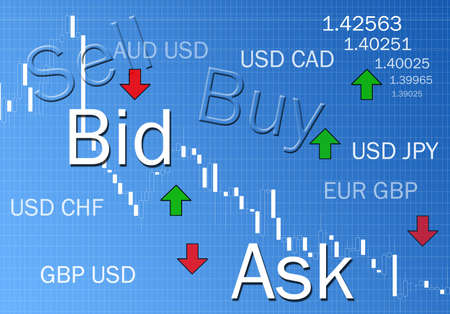 Foreign exchange market concept illustration Stock Photo
