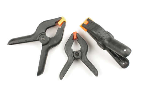 handtools: Three DIY tools isolated on the white background Stock Photo