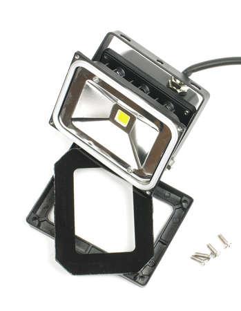 Broken LED lighting equipment isolated Stock Photo