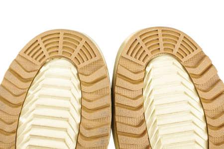 zapatos de seguridad: Zapatos de seguridad Brown único hilo de cerca