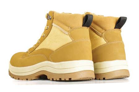 estilo urbano: Zapatos amarillos de estilo urbano visi�n trasera